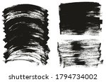 flat paint brush thin long  ... | Shutterstock .eps vector #1794734002