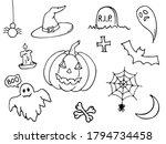 halloween symbol set for... | Shutterstock .eps vector #1794734458