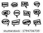 comic text laser cut photo... | Shutterstock .eps vector #1794736735