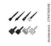 paint brush icon symbol vector... | Shutterstock .eps vector #1794740548