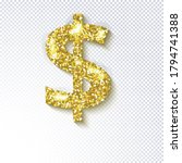 glittering golden icon  of the... | Shutterstock .eps vector #1794741388