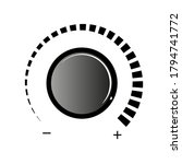 volume knob vector icon. volume ... | Shutterstock .eps vector #1794741772