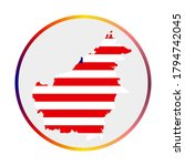 borneo icon. shape of the... | Shutterstock .eps vector #1794742045