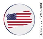 pennsylvania icon. shape of the ... | Shutterstock .eps vector #1794742048