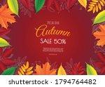 banner for autumn sale in frame ... | Shutterstock .eps vector #1794764482