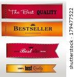 best seller and the best... | Shutterstock .eps vector #179477522