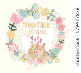 beautiful vintage greeting card ... | Shutterstock .eps vector #179477876