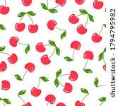 cherry seamless pattern. fruit...   Shutterstock .eps vector #1794795982