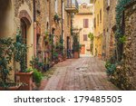 old town pienza  tuscany... | Shutterstock . vector #179485505