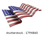3d render of the american flag | Shutterstock . vector #1794860
