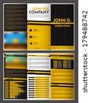 three fold brochure design   Shutterstock .eps vector #179488742