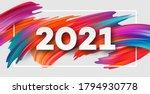 colorful brushstroke paint...   Shutterstock .eps vector #1794930778