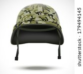 Military Helmet With Camouflage ...