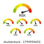 risk icon on speedometer. high...   Shutterstock .eps vector #1794954652