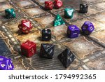 Set Of Role Playing Dice On A...