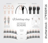 vector set wedding day. scheme | Shutterstock .eps vector #179500916