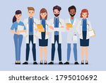 doctor with stethoscope medical ...   Shutterstock .eps vector #1795010692