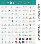 modern abstract logo collection ...   Shutterstock .eps vector #1795012495