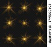 white glowing light explodes on ... | Shutterstock .eps vector #1795037608