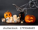 Halloween And Holiday Concept   ...