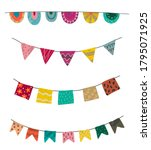 vector set of colorful graphic... | Shutterstock .eps vector #1795071925