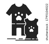 clothes for pets black glyph...