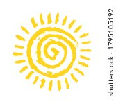 happy summer sun symbol hand... | Shutterstock .eps vector #1795105192