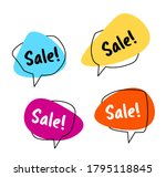 set colorful speech bubble sale.... | Shutterstock .eps vector #1795118845