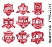 sale labels and tags red grunt...   Shutterstock .eps vector #1795122085