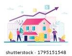 saving money concept. business...   Shutterstock .eps vector #1795151548