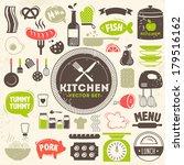 kitchen vector icons | Shutterstock .eps vector #179516162