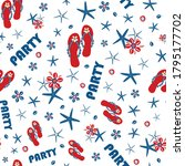 Party Flip Flop Shoe Seamless...