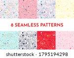 Seamless Fleck Pattern. Set Of...