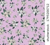 lily  lilies seamless pattern... | Shutterstock .eps vector #1795200712