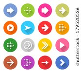 16 arrow icon set 01  white... | Shutterstock .eps vector #179520536