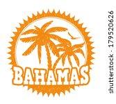 bahamas travel rubber stamp on... | Shutterstock .eps vector #179520626