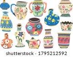 antique floral pattern design... | Shutterstock .eps vector #1795212592