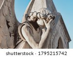 Statue Of Angel With Wings...