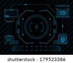 sci fi futuristic user... | Shutterstock .eps vector #179523386
