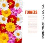 flower border. vector. | Shutterstock .eps vector #179527766