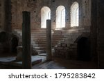 Column Hall Made Of Stone In...