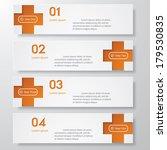 design clean number banners... | Shutterstock .eps vector #179530835