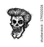 grunge zombie head | Shutterstock . vector #179532026