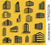 buildings flat design web icons ... | Shutterstock . vector #179532236