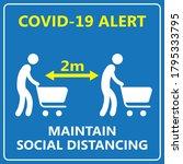 covid alert maintain social... | Shutterstock .eps vector #1795333795