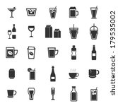 drink icons on white background ... | Shutterstock .eps vector #179535002