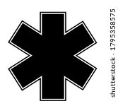 medical sign star of life icon. ... | Shutterstock .eps vector #1795358575