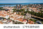 Aerial View Of Klaipeda City...