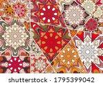 Vector Patchwork Quilt Pattern...