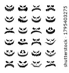 scary silhouettes of pumpkin... | Shutterstock .eps vector #1795403275
